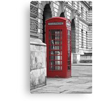 red booth Canvas Print