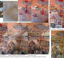 Fly Away: The building of a mixed media collage by Sally Sargent