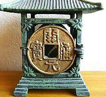 Vintage Japanese Tea Garden Lantern Metal Old Coin  by souzoucreations