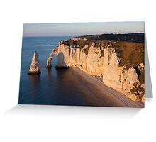 Aval cliff, Etretat, Cote d'Albatre, Pays de Caux, Seine-Maritime department Greeting Card