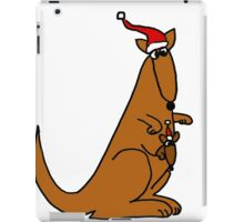 Funny Cool Christmas Kangaroo with Santa Hat iPad Case/Skin