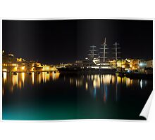 Reflecting on Malta - Vittoriosa and Senglea Megayachts Poster