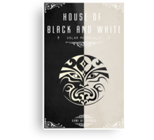 House of Black and White Metal Print