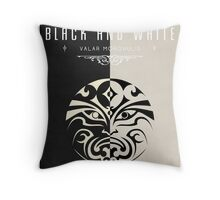 House of Black and White Throw Pillow