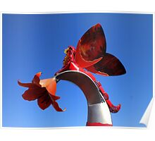 Blue Sky With A Hint Of Sculptural Element Poster