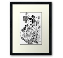 The Empress & The Tiger Cub Framed Print