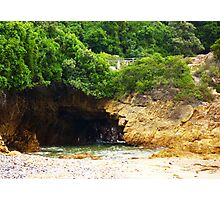 Sea cave at Knysna beach Photographic Print