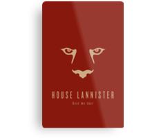House Lannister Minimalist Poster Metal Print