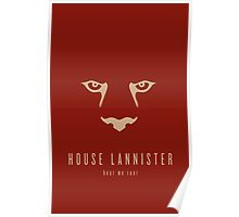 House Lannister Minimalist Poster Poster