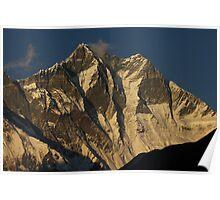 Lhotse south face at sunset (Nepal) Poster