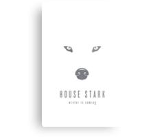 House Stark Minimalist Poster Metal Print