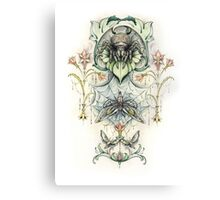 Antique pattern - Spider and Moths Canvas Print