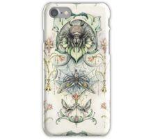Antique pattern - Spider and Moths iPhone Case/Skin