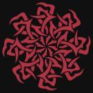 Tribal Sun Red Shirt by beanarts