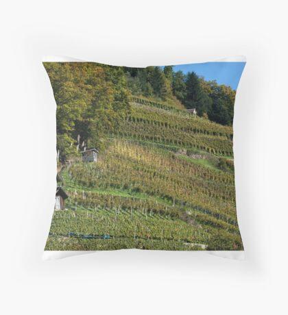 Glottertal vineyard Throw Pillow