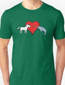 Unicorn Loves Narwhal Unisex T-Shirt