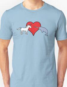 Unicorn Loves Narwhal Unisex T-Shirt