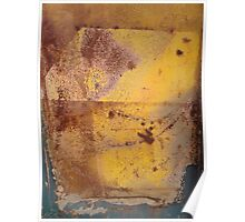 yellow, rust 3 Poster
