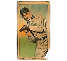 Benjamin K Edwards Collection Stewart San Francisco Team baseball card portrait Poster