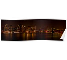 Manhattan skyline - color Poster