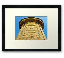 shakespeare statue stratford upon avon Framed Print