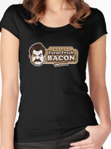 Farm Fresh Bacon Women's Fitted Scoop T-Shirt