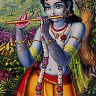 Krishna with flute by Vrindavan Das