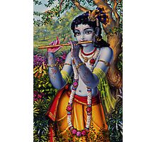Krishna with flute Photographic Print