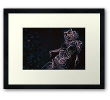 Electric Lady Framed Print
