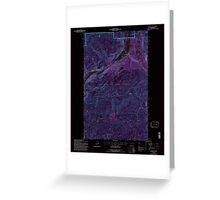 USGS Topo Map Washington State WA Aladdin 239775 1992 24000 Inverted Greeting Card