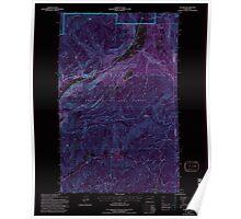 USGS Topo Map Washington State WA Aladdin 239775 1992 24000 Inverted Poster