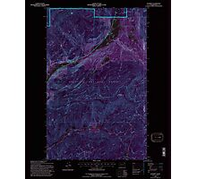 USGS Topo Map Washington State WA Aladdin 239775 1992 24000 Inverted Photographic Print