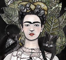 Frida Kahlo self portrait version by Jenny Wood