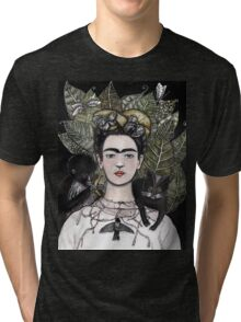 Frida Kahlo self portrait version Tri-blend T-Shirt