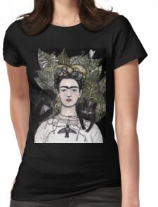 Frida Kahlo self portrait version Womens Fitted T-Shirt