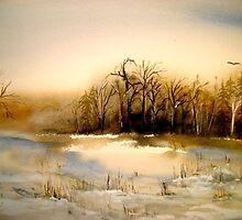 Beyond Silence....Winter Landscape.. by © Janis Zroback