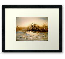 Beyond Silence....Winter Landscape.. Framed Print