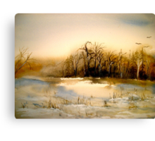 Beyond Silence....Winter Landscape.. Canvas Print