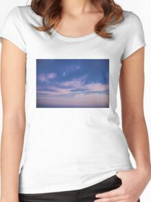 Trippy Sky Women's Fitted Scoop T-Shirt
