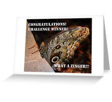 Zinger Challenge Greeting Card