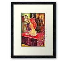 Gabrielle the Golden Hair Maiden Framed Print