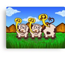 Singing Cows Canvas Print