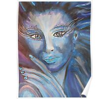 Fantasy Lady in blue - MW Art Marion Waschk Poster
