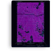USGS Topo Map Washington State WA Scenic 243593 1965 24000 Inverted Canvas Print