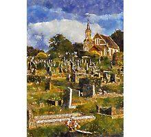 Chapel and Cemetery, Newton Abbot, Devon Photographic Print