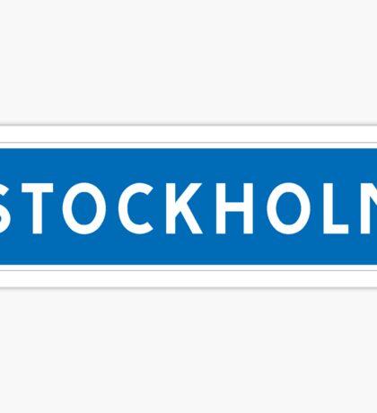 Stockholm, Road Sign, Sweden  Sticker