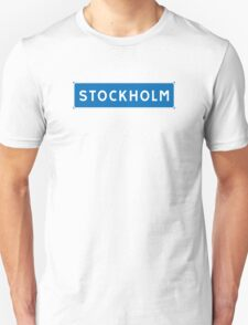 Stockholm, Road Sign, Sweden  T-Shirt