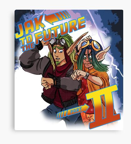 Jak to the Future Canvas Print