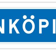 Jonkoping, Road Sign, Sweden Sticker