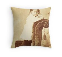 Mabel Grumps ~ Binghamton, NY c. 1880 Throw Pillow
